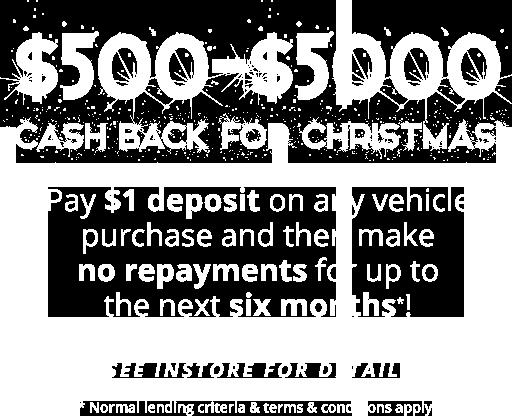 Cash back for Christmas